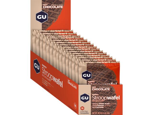 GU Energy Stroop Waffel Box 16x32g Hot Chocolate